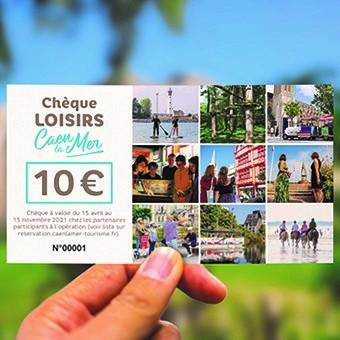 """Chèque Loisirs """"Habitants de Caen la mer"""""""