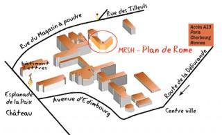 localisation du plan de Rome