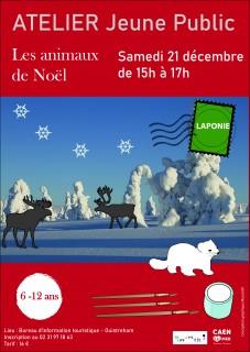 affiche-atelier-jeune-public-les-animaux-de-noel-musartdit-caen-la-mer-calvados-310