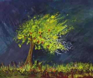 arbre-de-pomme-fond-d-affiche-413